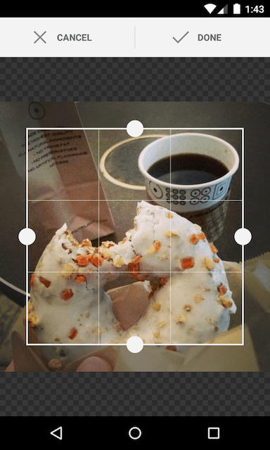 Image cropping library for Android