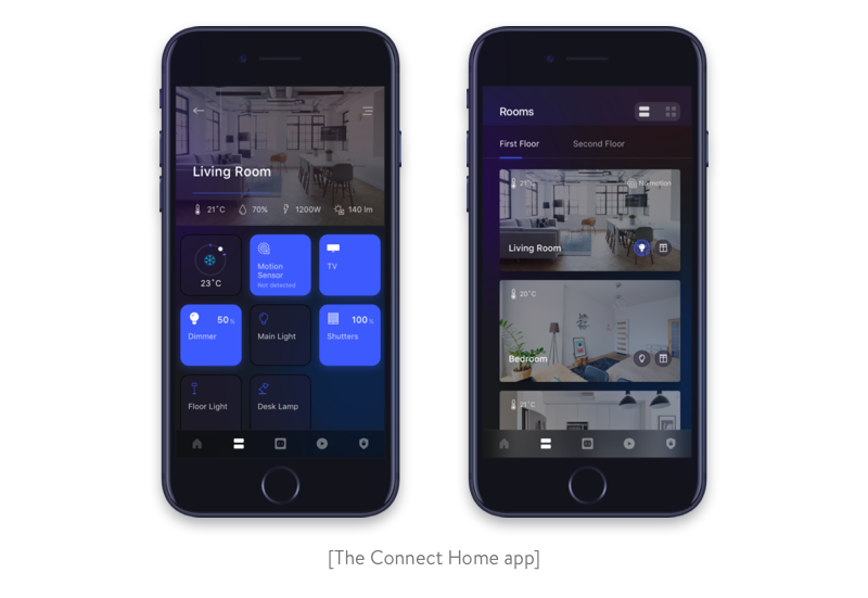 The Connect Home app