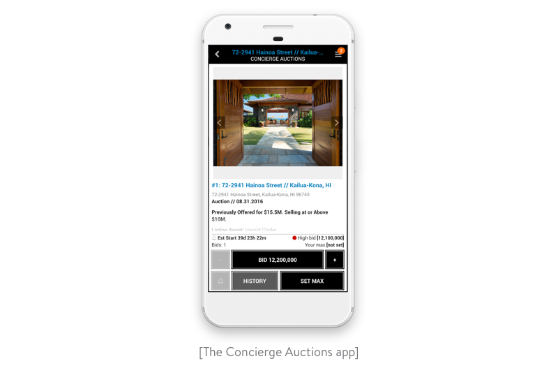 concierge auctions app