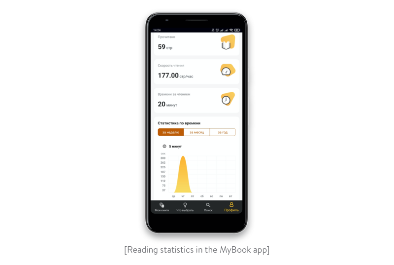 Reading statistics in the MyBook app