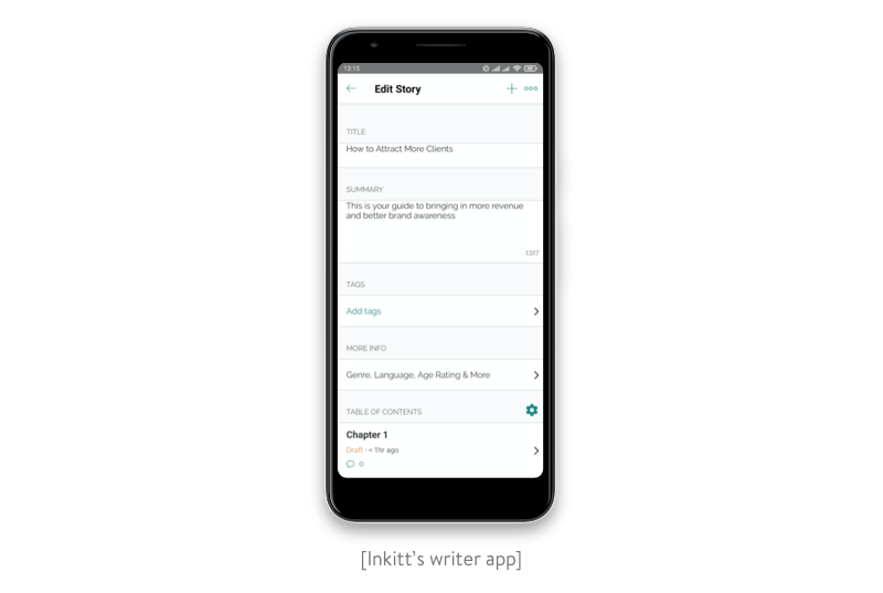 Inkitt Writing app