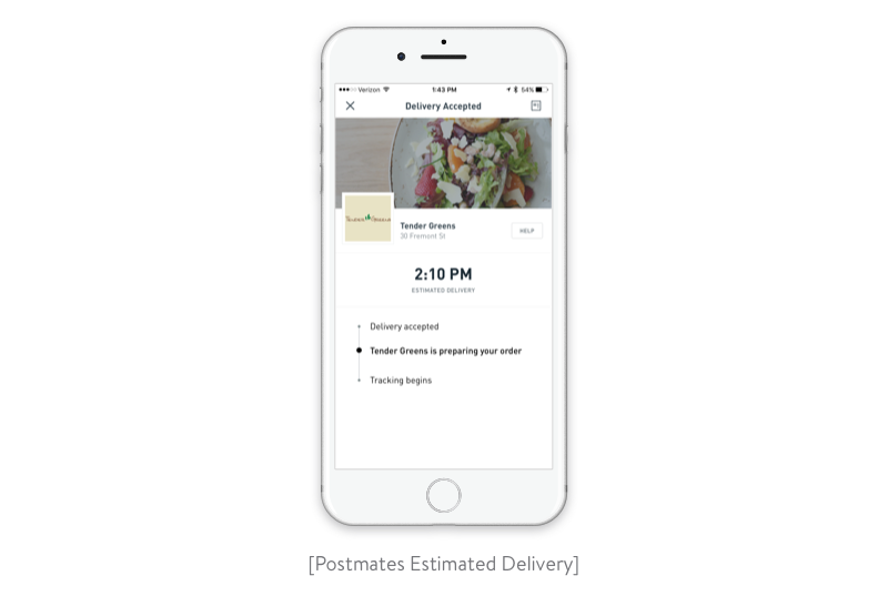 Estimated delivery
