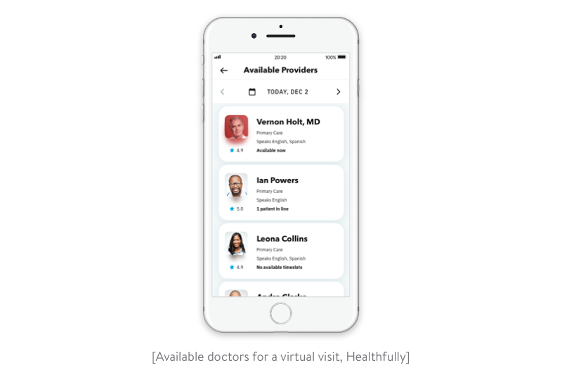 doctors available for a virtual visit in healthfully
