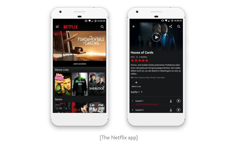 The Netlix app