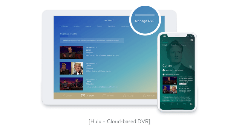 Cloud-based DVR functionality