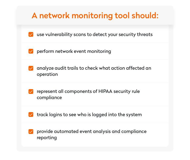 what a network monitoring tool should do