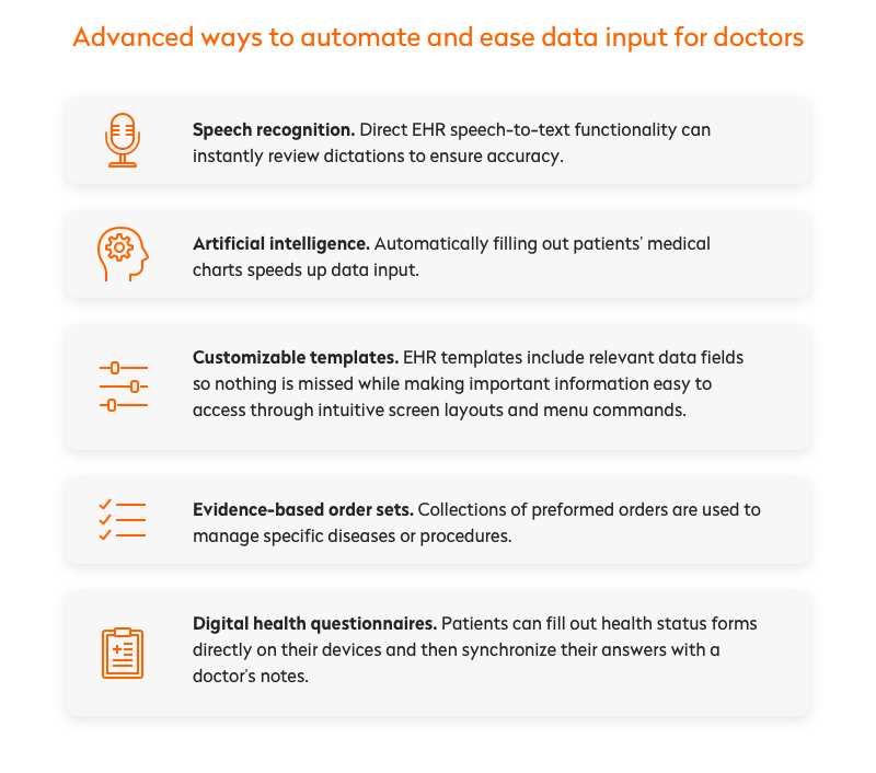 advanced ways to automate and ease data input for doctors