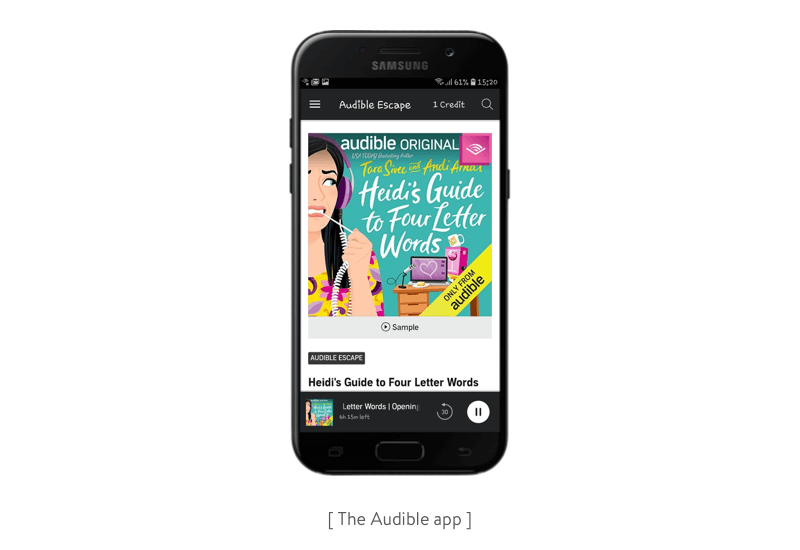 the audible app