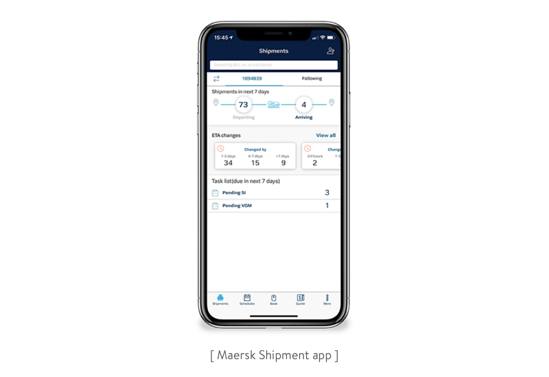 The Maersk app