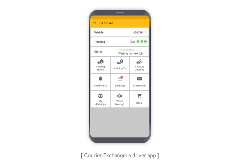The Courier exchange driver app