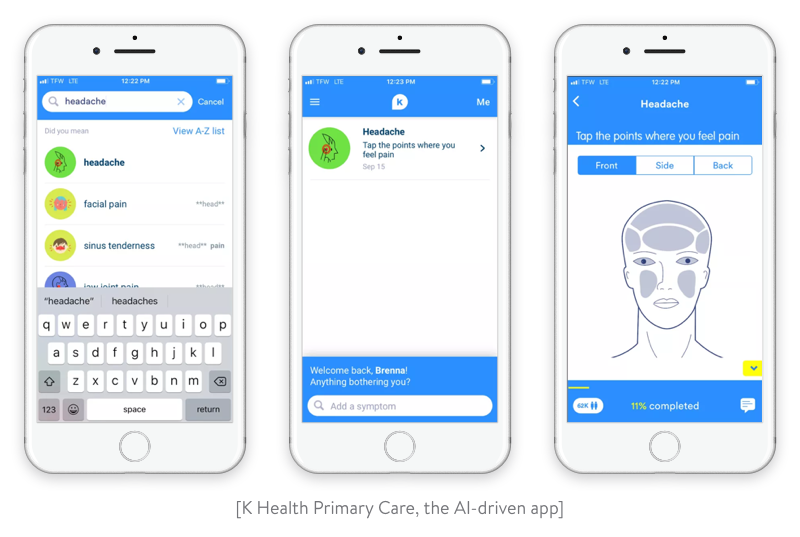 k health primary care an ai-driven app