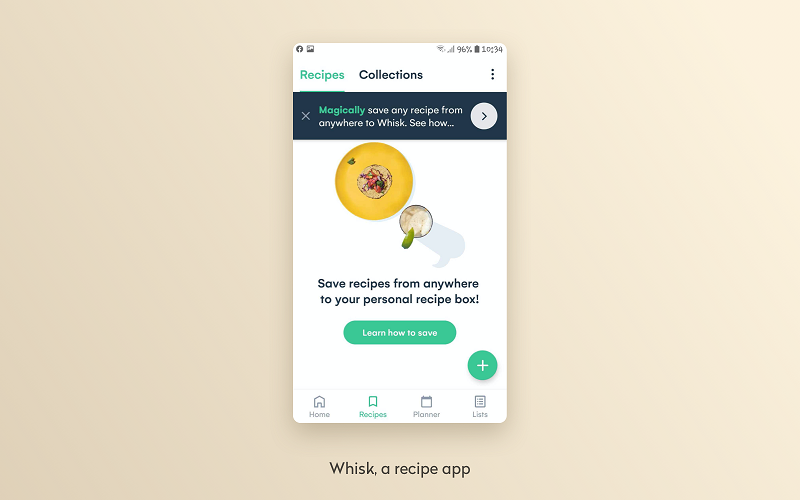 whisk, a recipe app