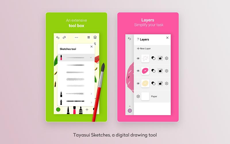 tayasui sketches, a digital drawing tool
