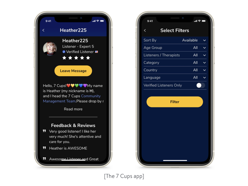 the 7 cups app