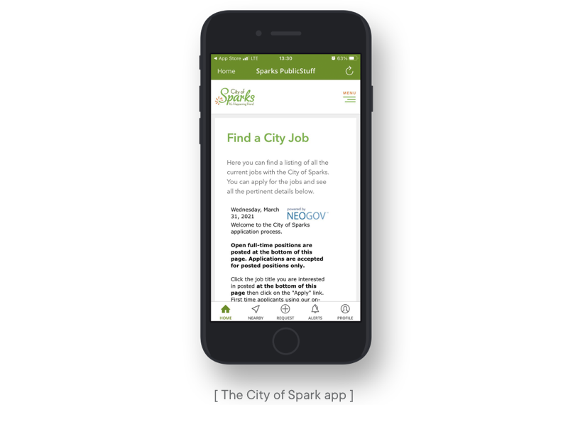 the city of sparks app