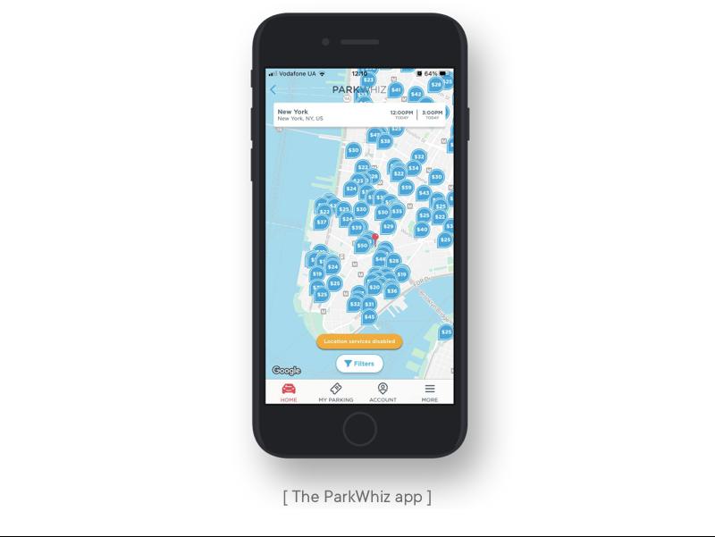 the parkwhiz app