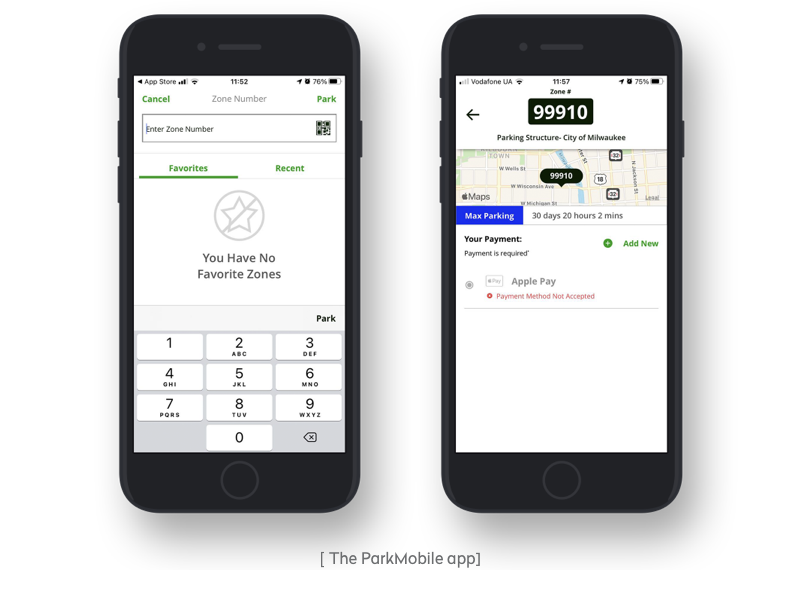 the parkmobile app