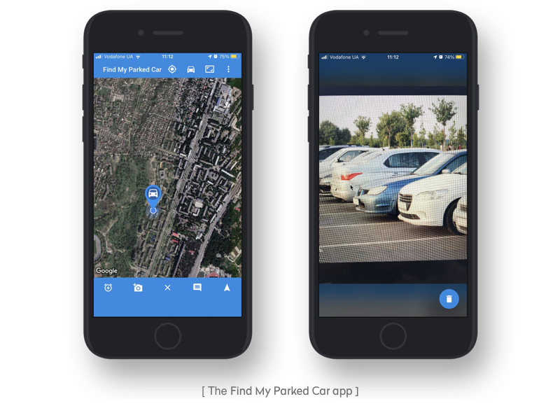 the find my parked car app