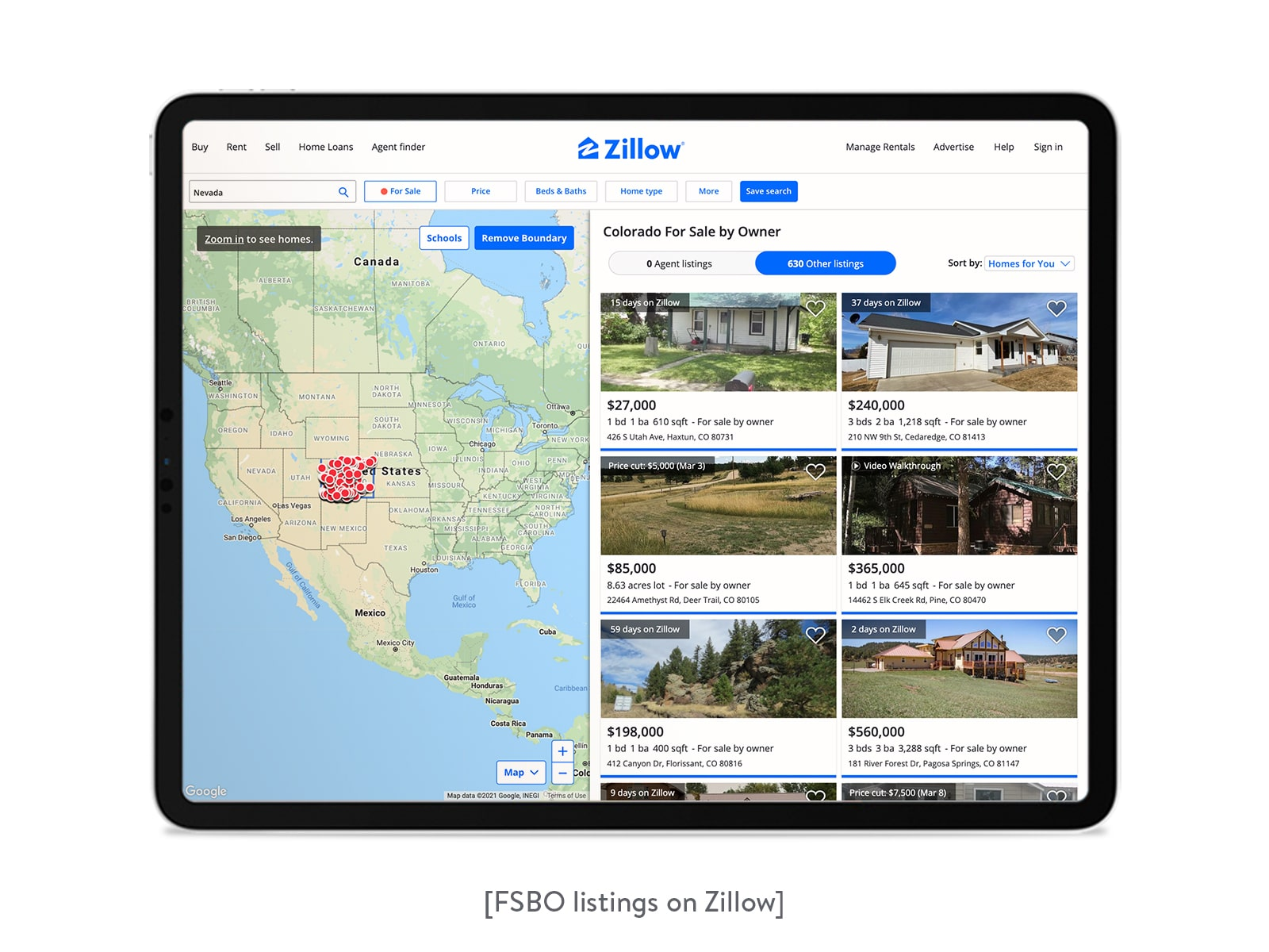 fsbo listings on zillow