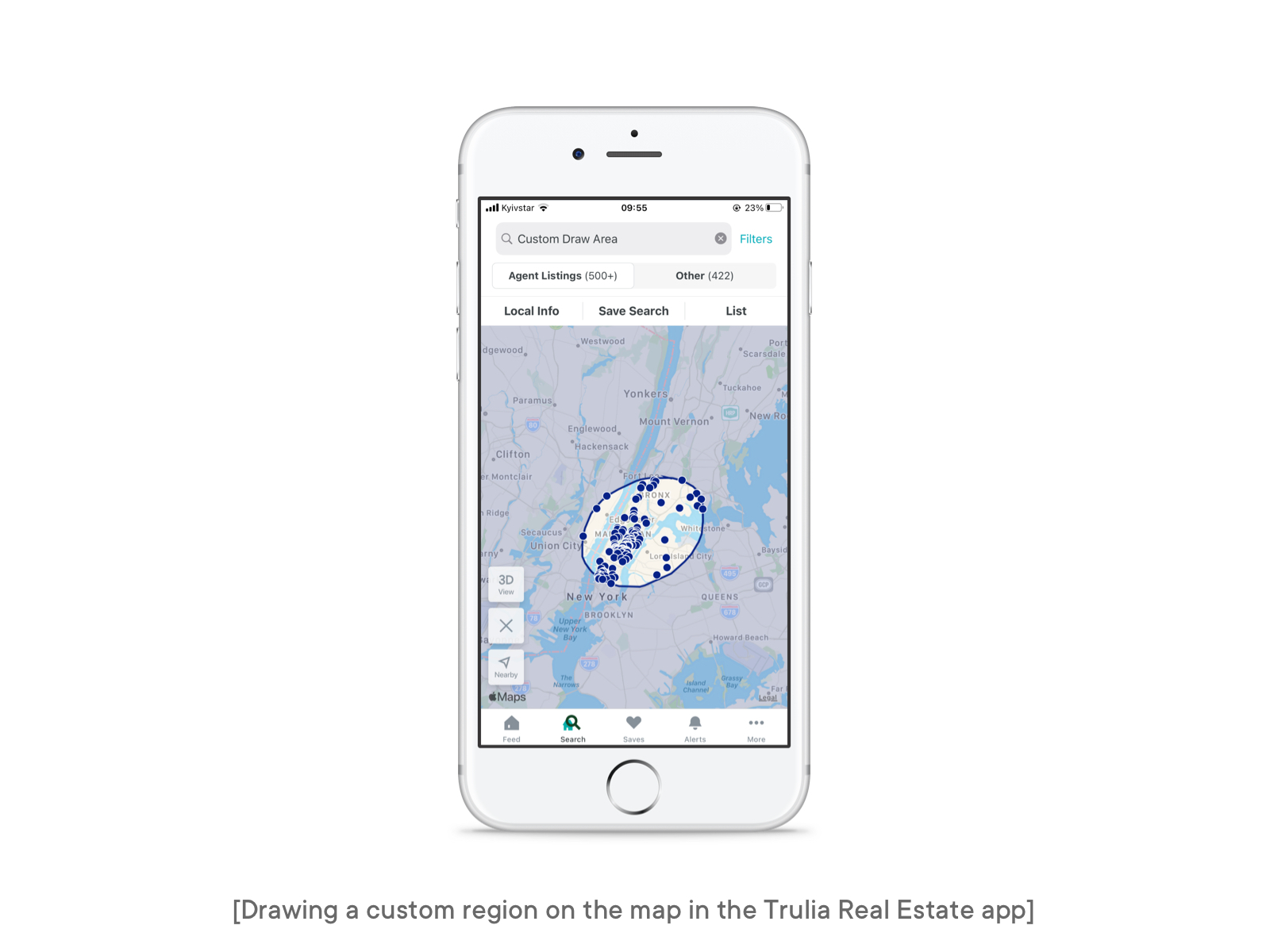 custom region in the trulia app