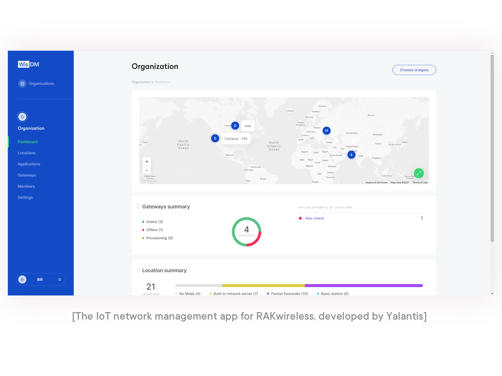 the iot network management app for rakwireless developed by yalantis