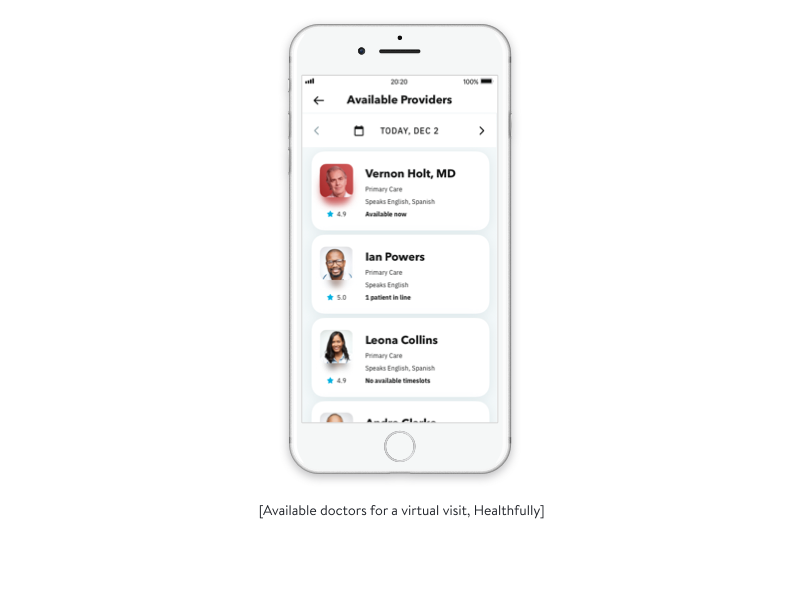 doctors available for a virtual visit healthfully app