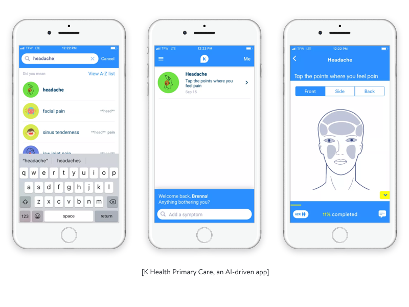 k health primary care an ai driven app