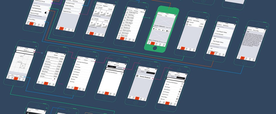 Wireframes. My day app