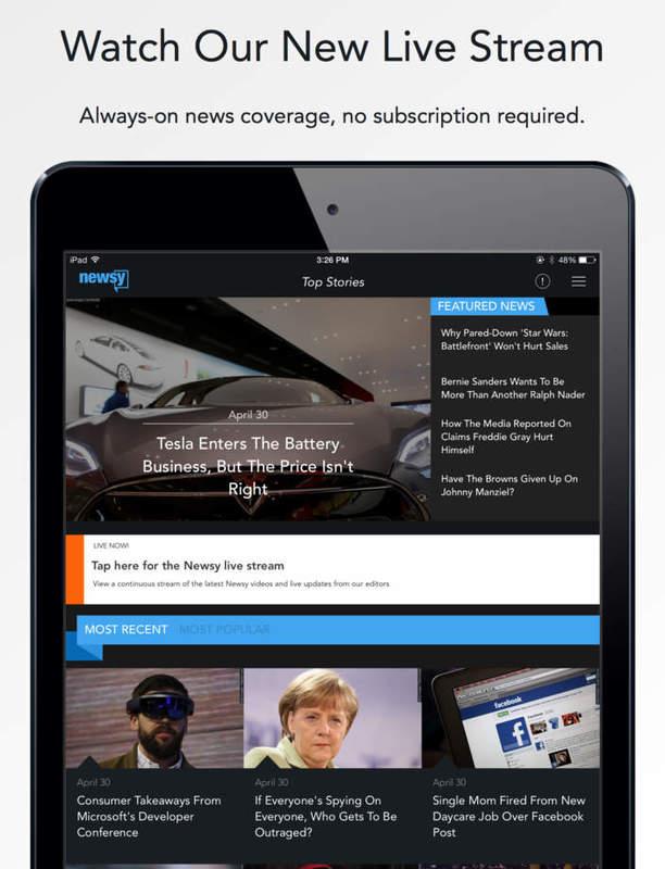 video news app