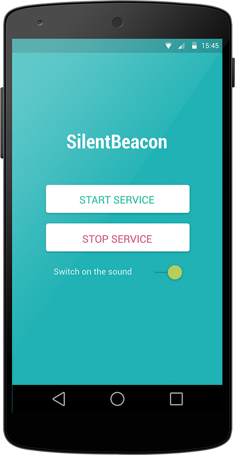 SilentBeacon app for Android